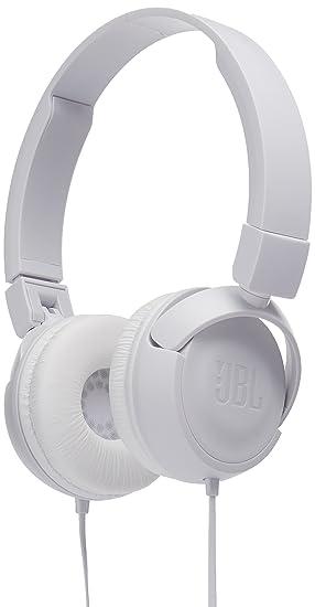 JBL puro sonido de graves inalámbrica Bluetooth t450bt – Auriculares de diadema cerrados, color blanco