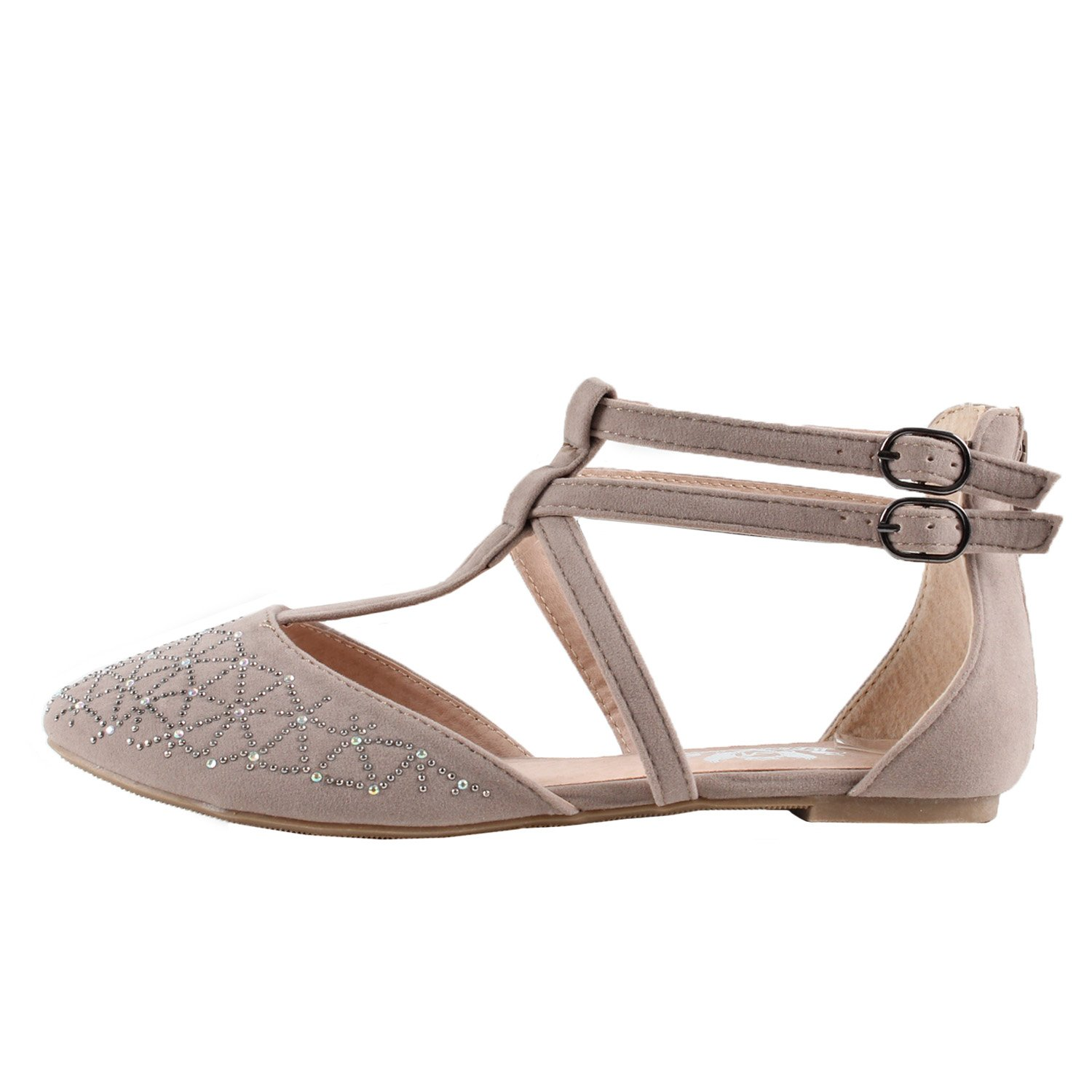 Taupe Suede West Blvd Katowice Flat Ballet-Flats 7.5