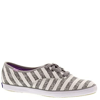 dd479b4a1cd Image Unavailable. Image not available for. Color  Keds Grey Champion  Washed Stripe Oxford Shoes - Women