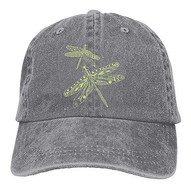 ANIDOG Dragonfly Denim Hat Ajustable Diseño de Gorras de béisbol ...