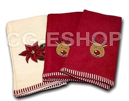 Idee Regalo Natale In Cucina.Set 3 Strofinacci Cucina Natale Strofinaccio Asciugamano Idea Regalo