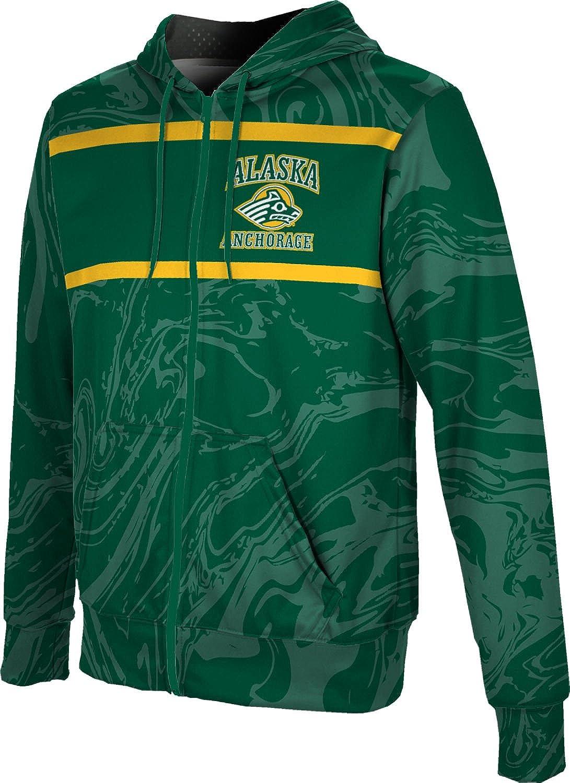 ProSphere University of Alaska Anchorage Boys Full Zip Hoodie Ripple