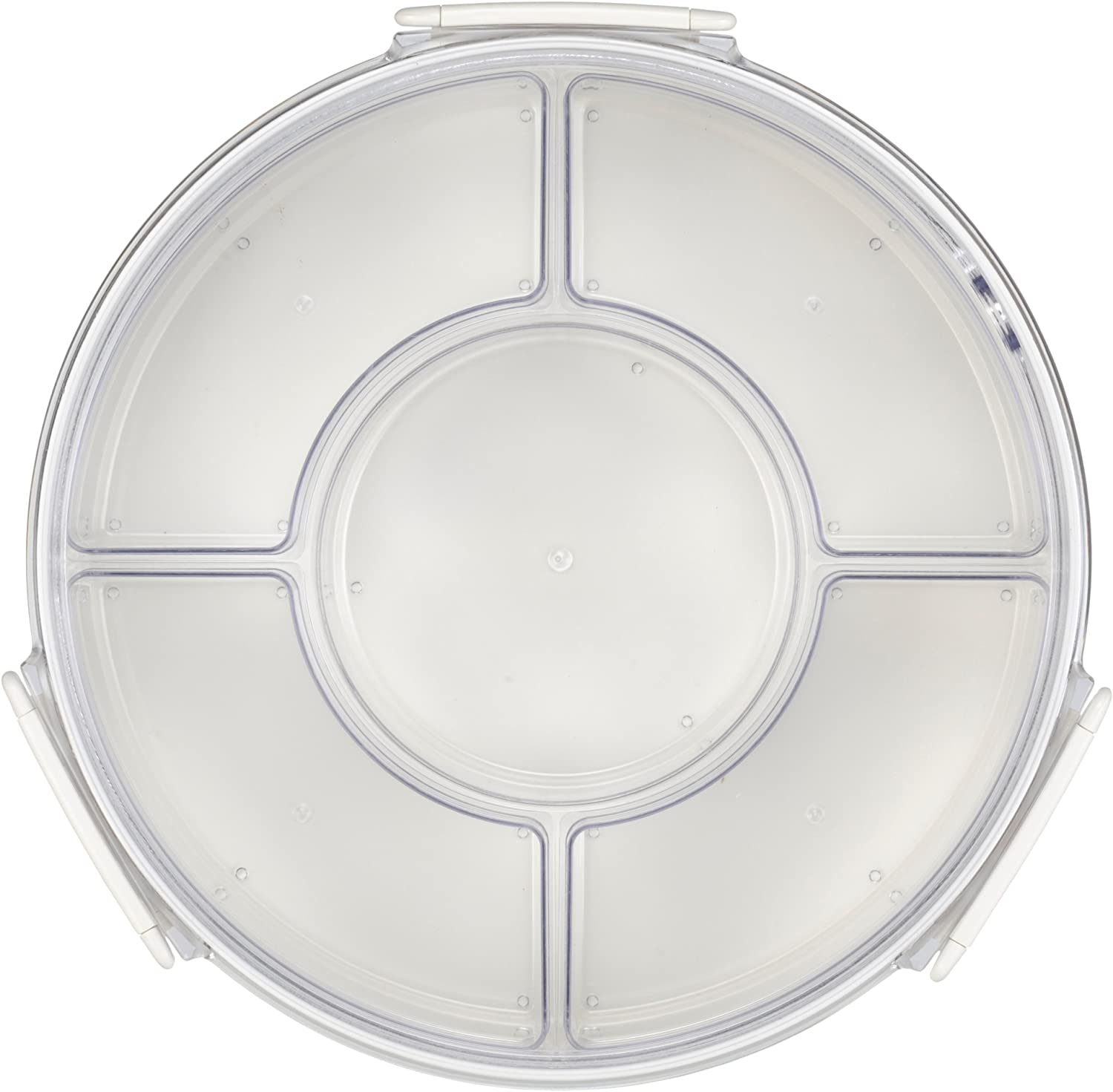 Lustroware Gourmet Palette Round Party Food Container, White