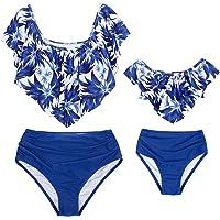 AmzBarley Bañadores Madre e Hija Bikinis Traje de Baño Iguales Ropa Verano Bañador Traje de Baño de Mujer Niña Tankini…