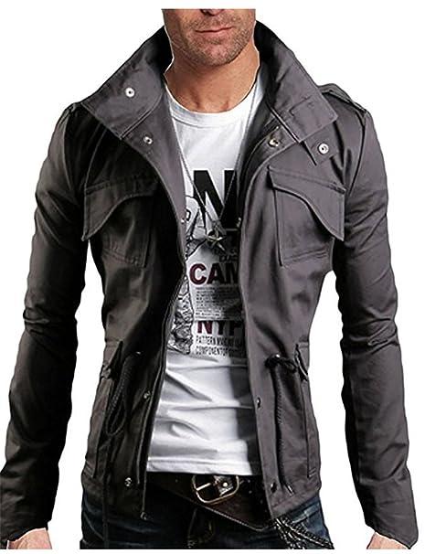 SHUNLIU Chaquetas de Hombres Moda Delgado Ajuste Jackets Chaquetas para Hombre Otoño Coat: Amazon.es: Ropa y accesorios