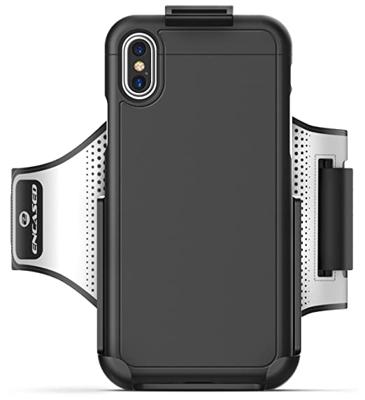 buy popular ddc14 23d50 Encased SportsBand fits iPhone X Armband, (Includes SlimShield Grip Case)  Universal Click-N-Go Workout Band - Compatible to Apple iPhone X (Black)