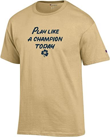 Champion NCAA Mens Vintage Ultimate Triblend T-Shirt with Old School Logo