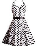 Amazon Price History for:OWIN Women's 1950s Sleeveless Bandage Halter Polka Dots 1950's Knee-Length Vintage Swing Dress