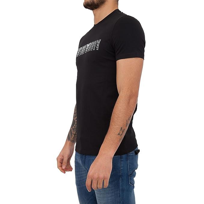 Emporio Armani 3Z1T92 1J0AZ 0999 Camiseta Negro Black Hombre