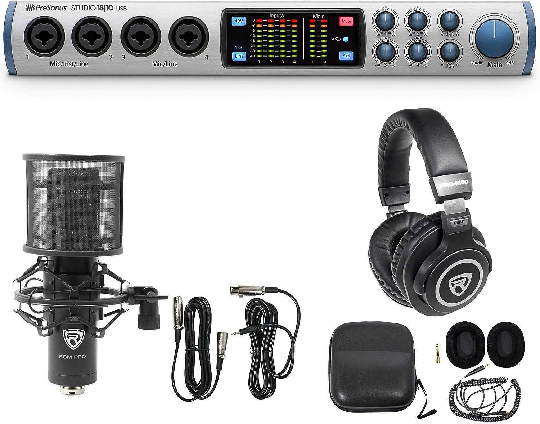 Rockville RCM PRO Studio//Recording Condenser Microphone+Headphones+Cable+Case