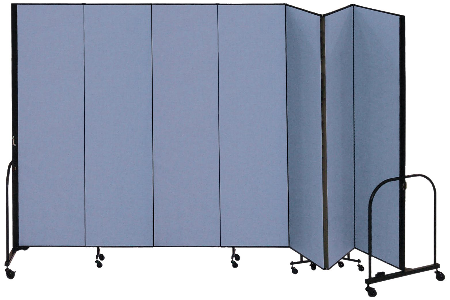 Screenflex Commercial Portable Room Divider (CFSL747-DB) 7 Feet 4 Inches High by 13 Feet 1 Inches Long, Designer Lake Fabric