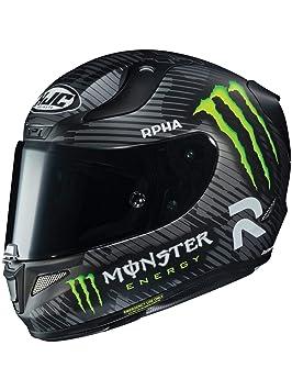 Casco Moto Hjc Monster Energy Special Rpha 11 Negro (M, Negro)