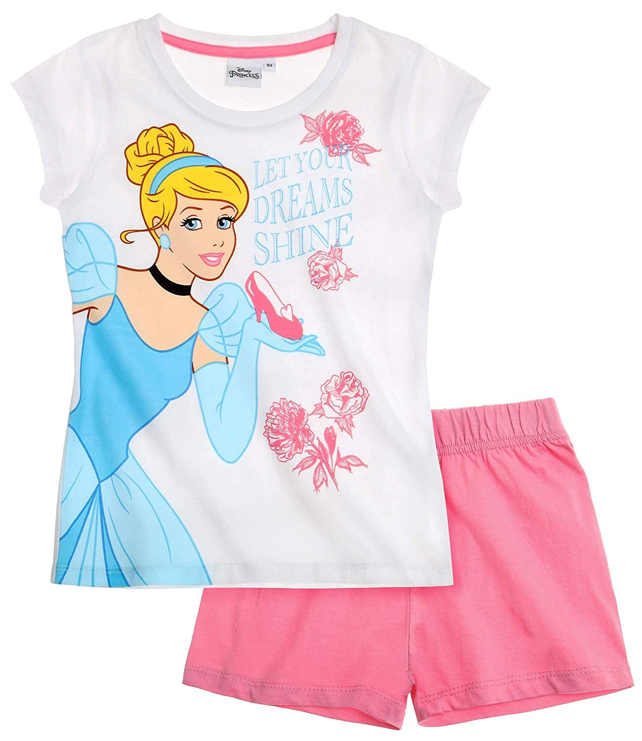 Disney Princess Ragazze Pigiama maniche corte 2016 Collection - bianco