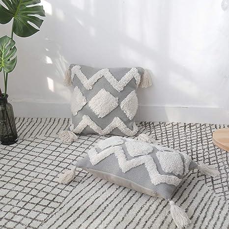 Amazon.com: Funda de cojín cuadrada decorativa para sofá ...