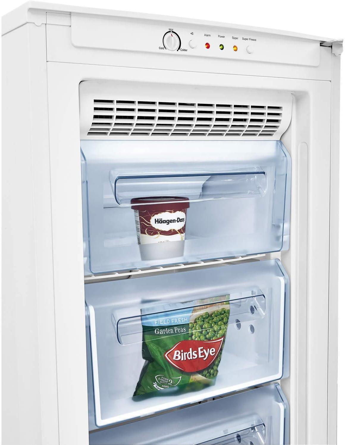 Fridgemaster MTZ55183FF Congelador vertical de 55 cm de ancho color blanco