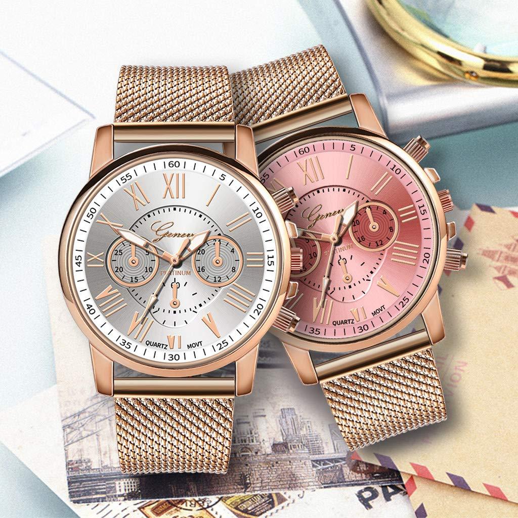 Pocciol Fashion Military Stainless Steel Quartz Watch Womens Casual Watch Luxury Analog Wristwatch (White) by Pocciol Cheap-Nice Watch (Image #1)