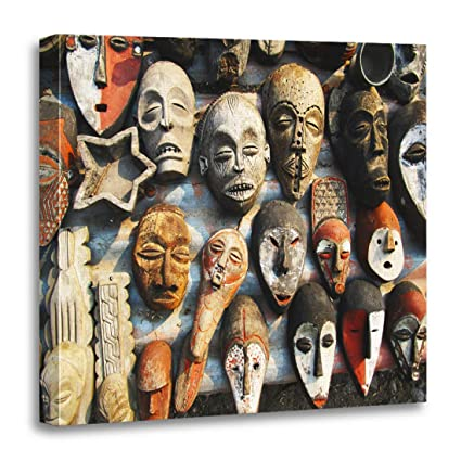 Amazon Com Semtomn Canvas Wall Art Print Africa Congolese Wooden
