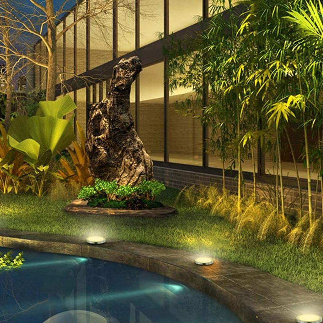 Chainscroll Tragbare wasserdichte Solar Rasen Licht Boden Licht Garten Licht Terrassen-Beleuchtung 10LED Warmweiß