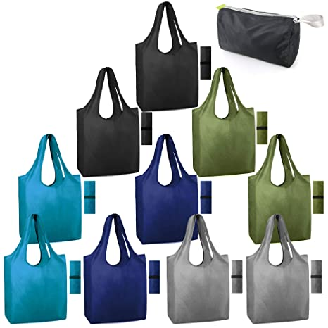 Amazon.com: Bolsas de comestibles reutilizables plegables ...