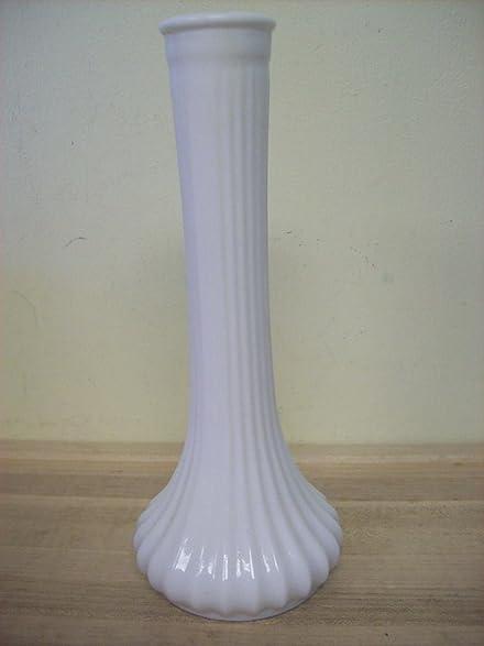 Amazon Hoosier Milk Glass 9 Bud Vase Diamond Quilt Pattern