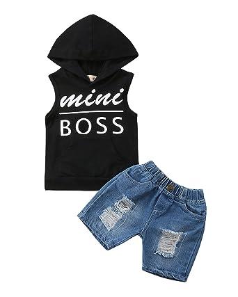 312a2c5dcdd Toddler Kids Baby Boy T-Shirt Tops Denim Pants Trousers Outfits Clothes Set  2Pcs (