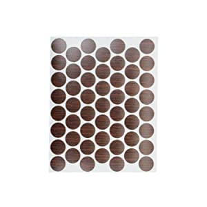 "53 Pack Fastcap FC.WP.916.IW 9/16"" Self Adhesive Furniture Cabinet Screw Cap Covers Imperial Walnut"