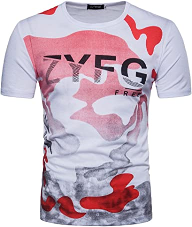 Gusspower Camo Oversized tee, Camiseta para Hombre Camiseta, M-2XL: Amazon.es: Ropa y accesorios