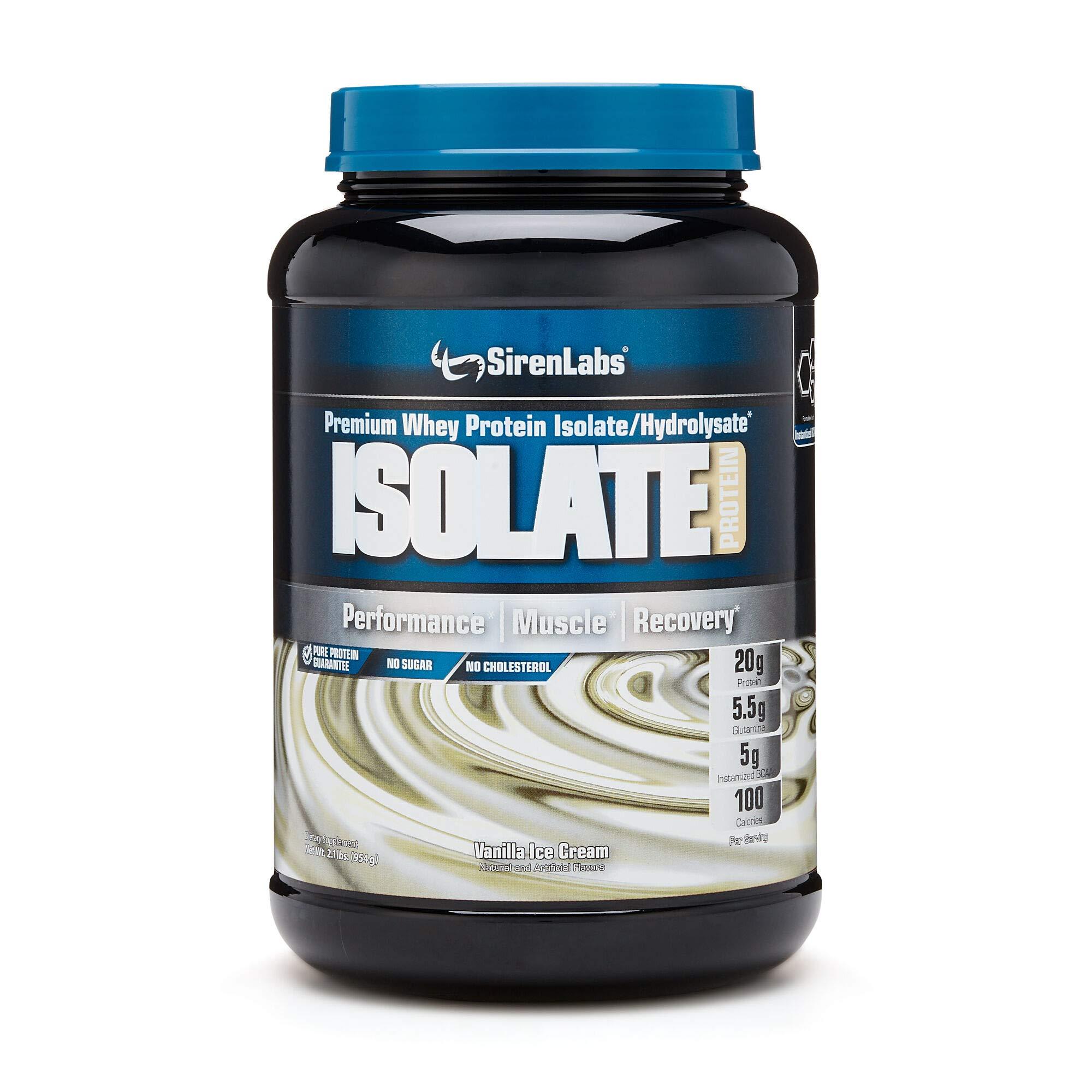 SirenLabs Isolate Protein - Vanilla Ice Cream by SirenLabsTM