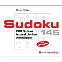 Sudoku Block 145: 200 Sudoku im praktischen Abreißblock