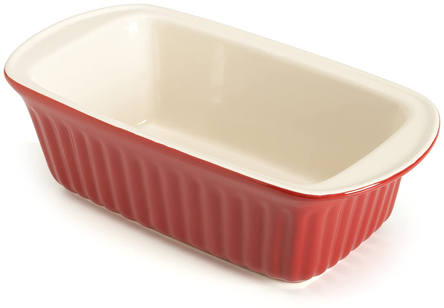 Good Cook 9 Inch Ceramic Loaf Dish, Red 04426