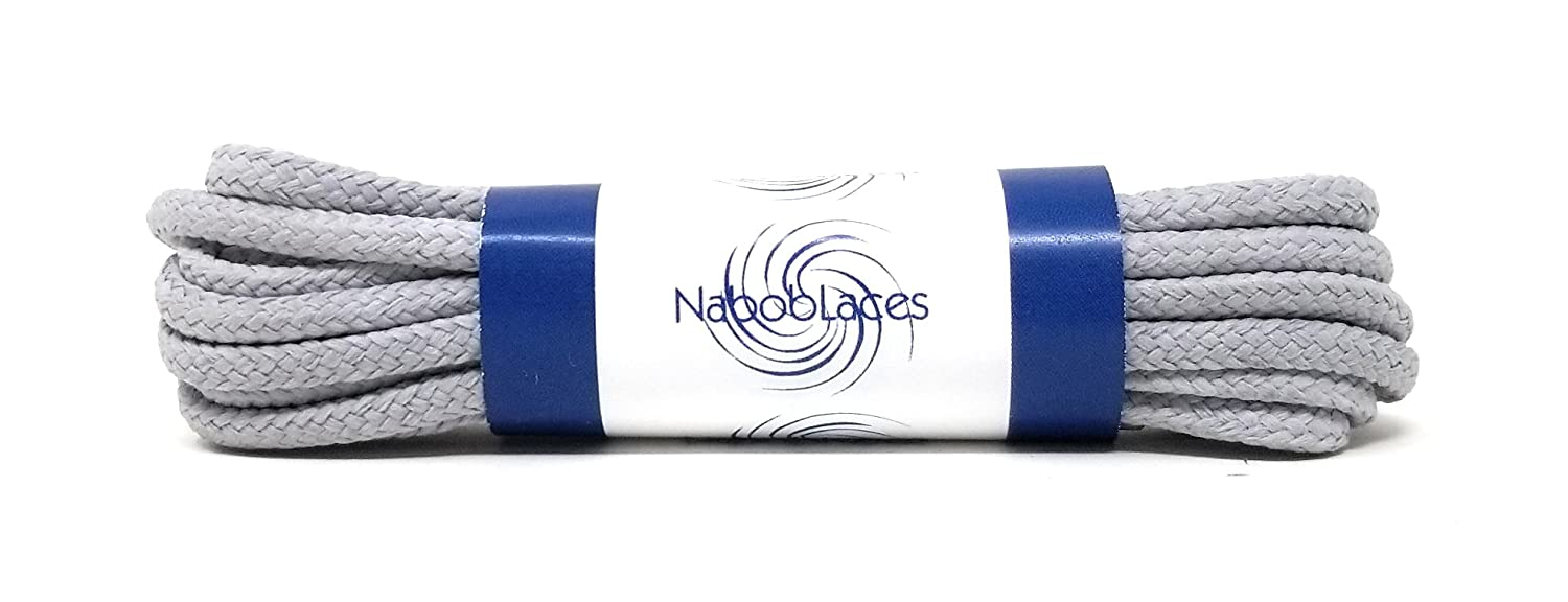 Round Waxed Dress Shoe Laces (2 Pair Pack) Multipule Color/Sizes, Compatible With All Dress Shoes By Nabob Laces