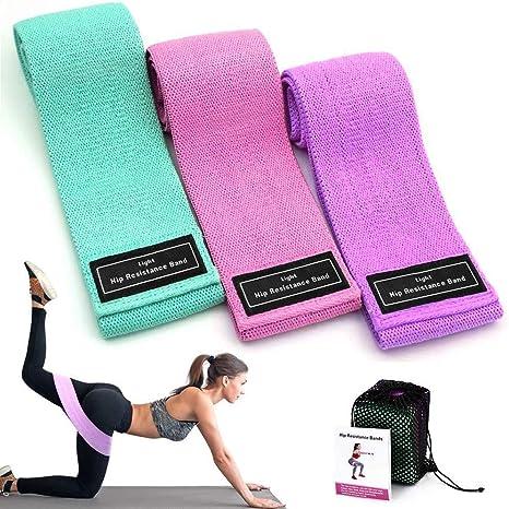 para el acondicionamiento f/ísico WIN.MAX Bandas Elasticas Conjunto de 5 Bandas de Resistencia para diferentes niveles de fuerza Pilates