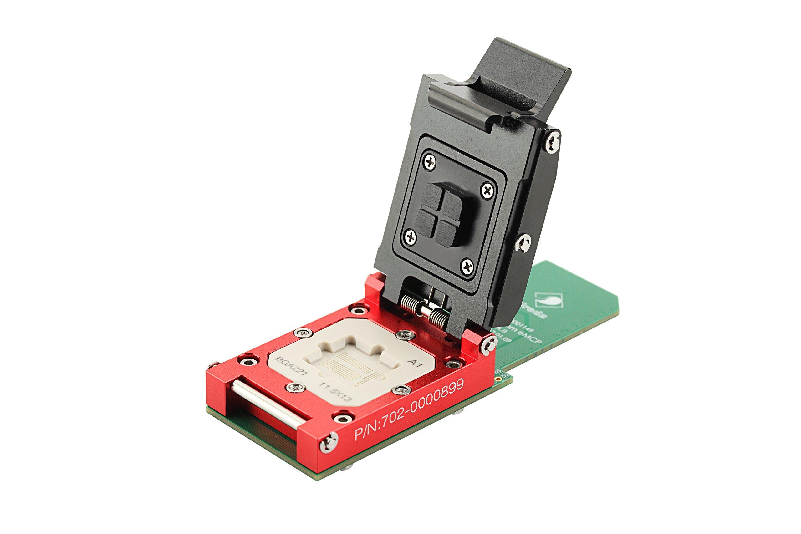 Sireda BGA221 Socket SD Solution_11.5x13mm_Pitch 0.5mm Perform,eMCP IC Test Socket