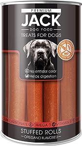Premium Jack Stuffed Rolls Antioxidant | Treats for Dogs | 8.8oz Case (Gluten & Sugar Free) (Pack of 1)