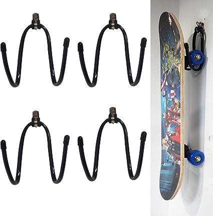 YYST Skateboard Wall Hanger Wall Storage Clip Skateboard Wall Rack Wall Mount