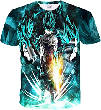 CHENGNT Camisetas Dragon Ball Z Super Son Goku Vegeta3D Impresión HD Unisex Pareja Moda Camiseta XXL Verde: Amazon.es: Ropa y accesorios