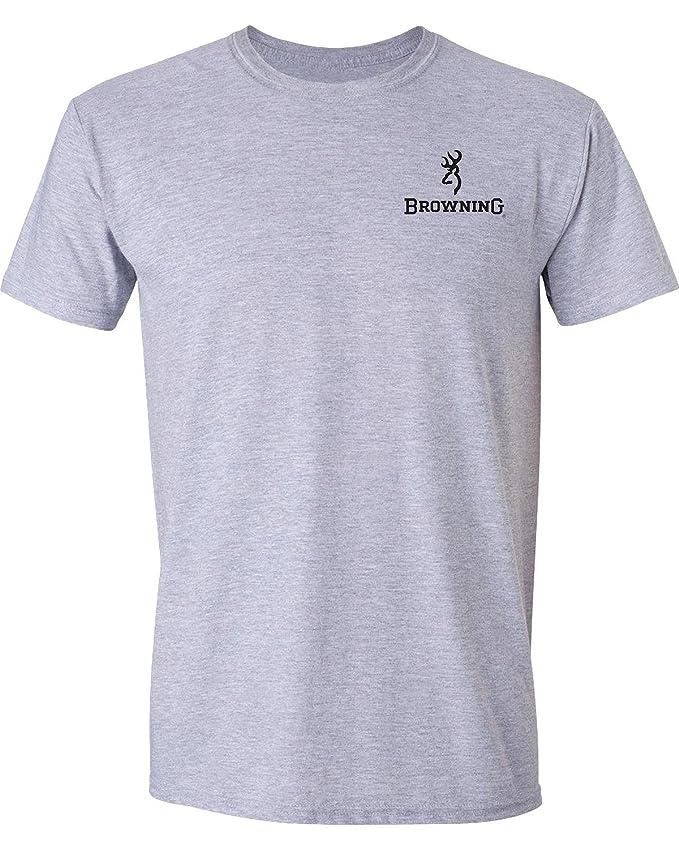 Browning Buckmark Authentic Black//Gold Short Sleeved Unisex Tee Shirt New