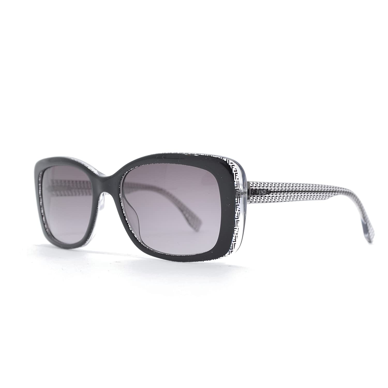 Fendi 0002/S Sunglasses-06ZV Black Crystal (EU Black Gradient Lens)-53mm