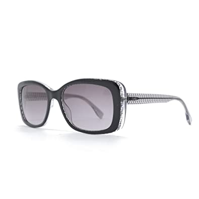40364fc67652 Image Unavailable. Image not available for. Color  Fendi 0002 S Sunglasses-06ZV  Black Crystal (EU ...