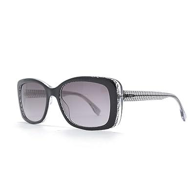 d13838b54af Amazon.com  Fendi 0002 S Sunglasses-06ZV Black Crystal (EU Black ...