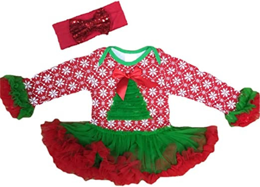 Voberry Toddler Infant Baby Boy Girl Christmas Long Sleeve Santa Dot Print Tulle Dress Outfits