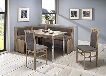 Eckbankgruppe U0027Moni IIu0027 Essgruppe 165 X 125 X 82 Vierfußtisch 2 Stühle  Modern Eckbank