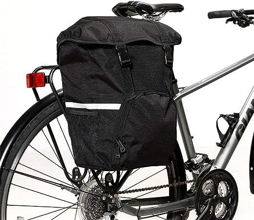 Bolsa de asiento de bicicleta 15L MTB Mountain Bike Bag Alforjas de sillín trasero de bicicleta con correa reflectante Alforja de bicicleta Asiento trasero Bolsa de maletero Borsa da sella per bici: