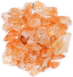 """Crystal Allies Materials: 1lb Bulk Rough Citrine Stones from Brazil - 1/2"""" - 1"""" Raw Natural Crystals for Cabbing, Cutting, Lapidary, Tumbling, and Polishing & Reiki Crystal HealingWholesale Lot"""