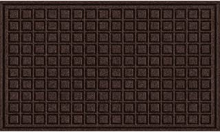 product image for Textures Blocks Entrance Door Mat, 18-Inch by 30-Inch, Walnut