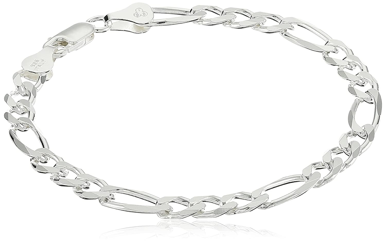 Open Figaro Chain Bracelet 7 Amazon Collection S12188-7A