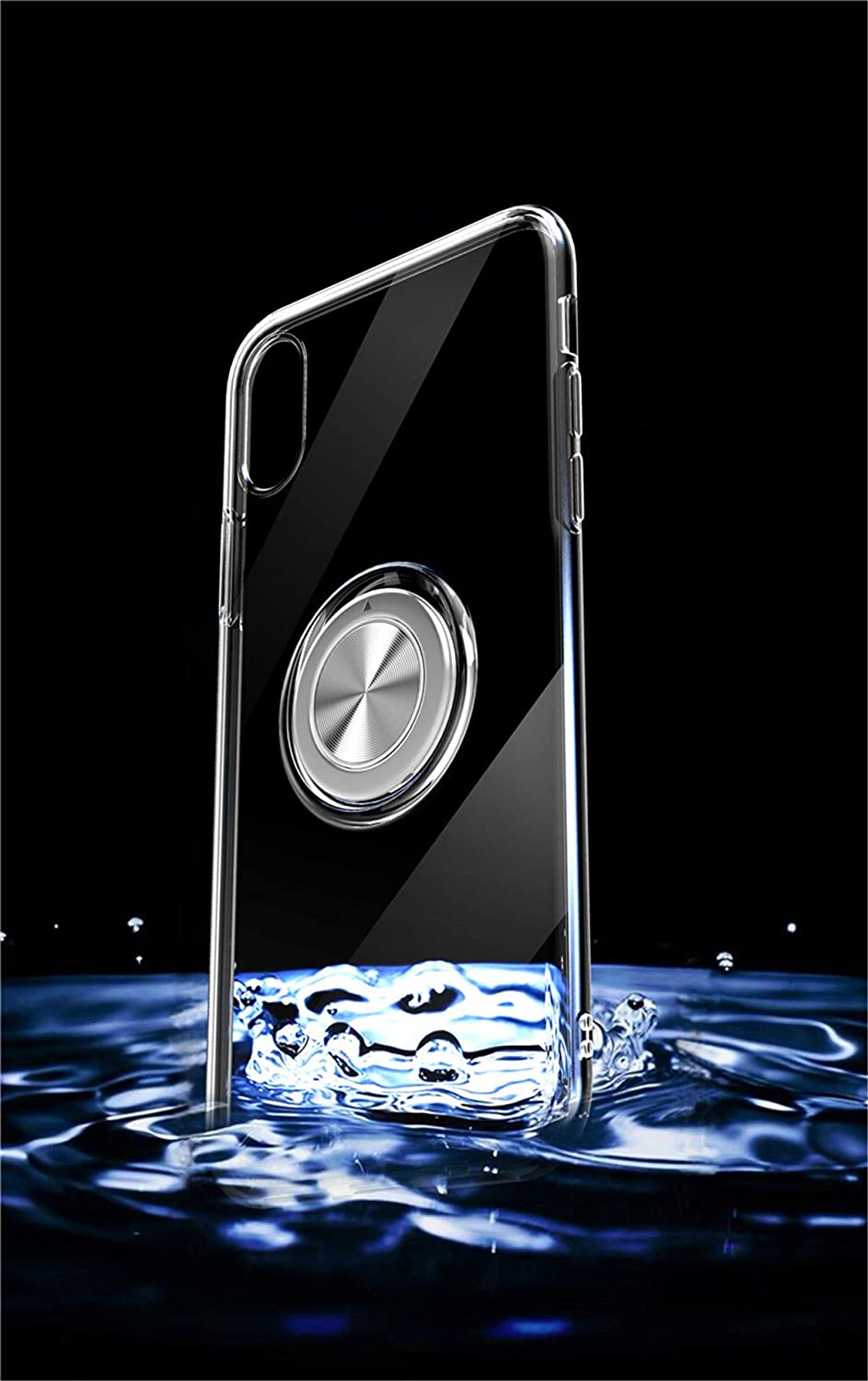 6.5 inch Shock Absorption Rouge, i11 Pro Max Housse Kickstand Ring /Étui en Silicone Slim Case Antichoc Cover Anti-Rayures Coque Compatible with iPhone 11 Pro Max