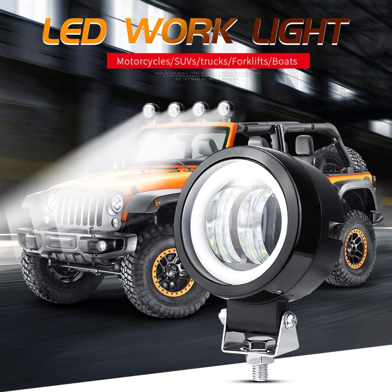 Zusätzliche Lichter Motorrad Wasserdichtes Flutlicht 3 20w Runde Led Nebelscheinwerfer Für Auto Motorrad Geländewagen Lkw Gabelstapler Boot 1 Packung Auto
