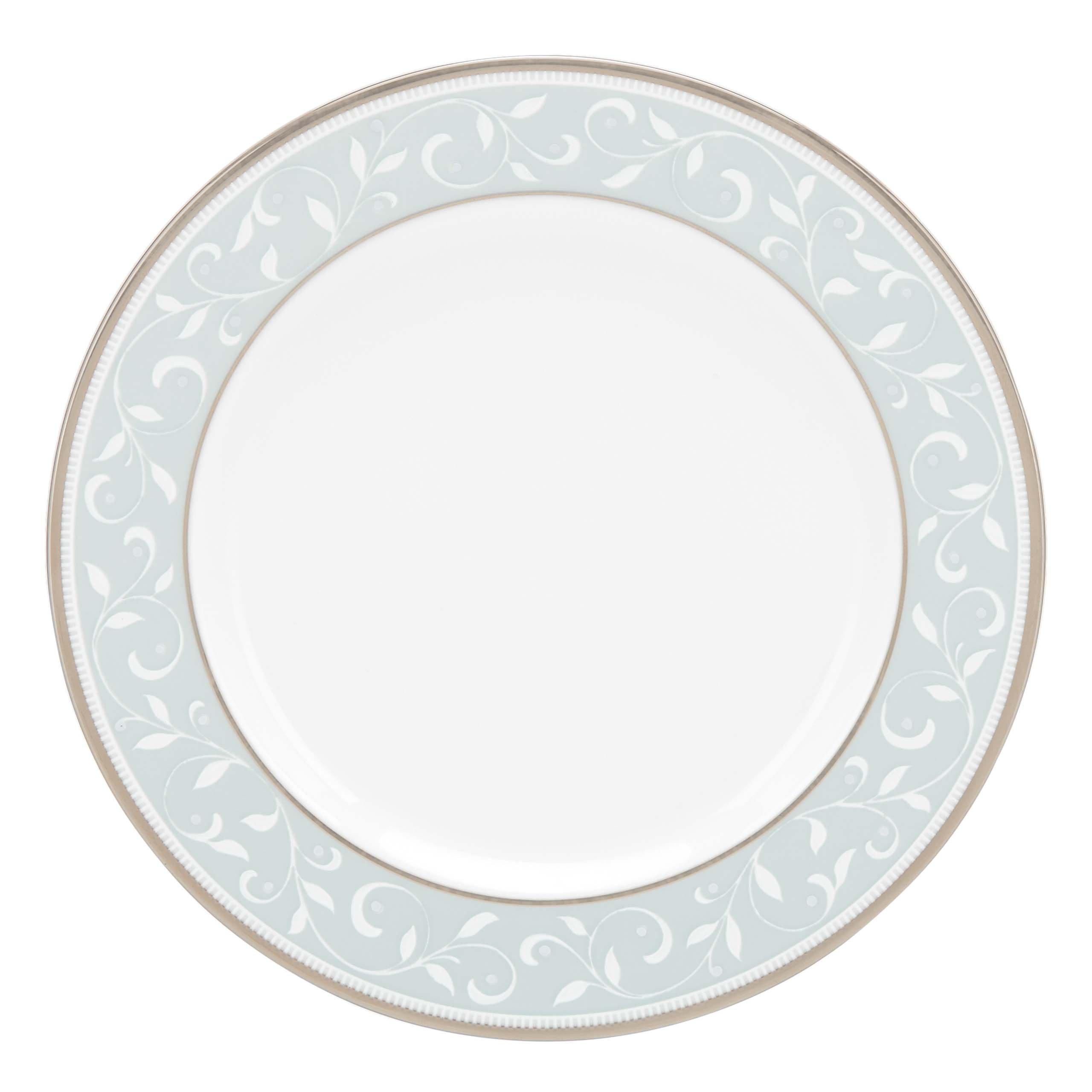 Lenox Opal Innocence Blue Butter Plate, White
