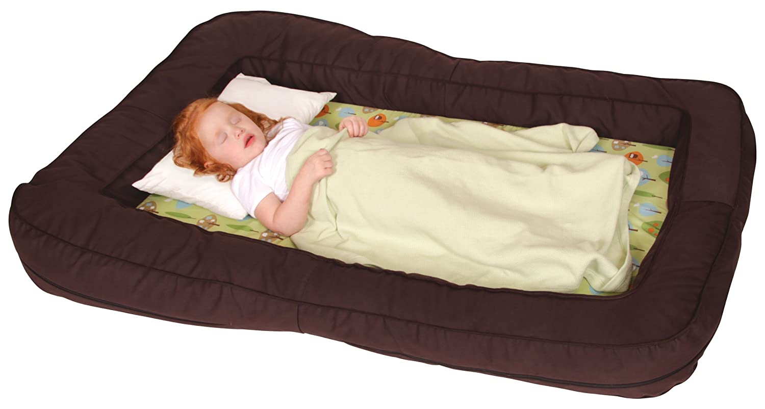 Baby bed for two year old - Amazon Com Leachco Bumpzzz Travel Bed Brown Green Forest Frolics Toddler Beds Baby